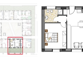 Via Isola Saloni 116, Chioggia, 1 Camera da Letto Stanze da Letto, 1 Stanza Stanze,1 BagnoBathrooms,Bilocale,Edificio C, Via Isola Saloni 116,1082