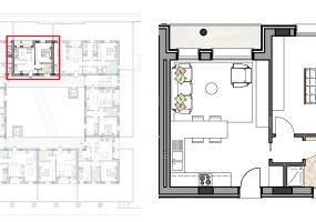 Via Isola Saloni 116, Chioggia, 1 Camera da Letto Stanze da Letto, 1 Stanza Stanze,1 BagnoBathrooms,Bilocale,Edificio C, Via Isola Saloni 116,1086