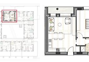 Via Isola Saloni 116, Chioggia, 1 Camera da Letto Stanze da Letto, 1 Stanza Stanze,1 BagnoBathrooms,Bilocale in attico,Edificio C, Via Isola Saloni 116,1110